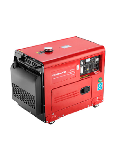 Gerador de Energia a Diesel Mono 4 KVA 110/220v Partida Elétrica - BD-6500 ES - Branco