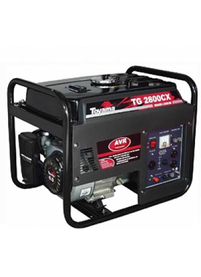Gerador de Energia a Gasolina Mono 2,5 KVA 110/220v Partida Manual - TG2800CX - Toyama