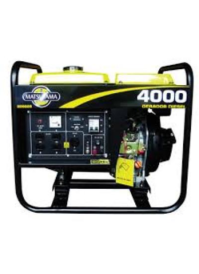 Gerador de Energia a Diesel Mono 4 KVA 110/220v Partida Manual - Matsuyama