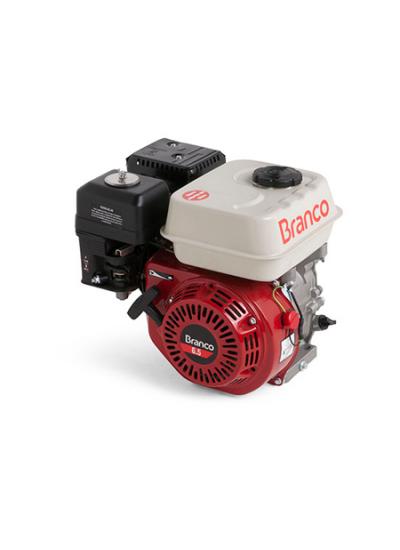 Motor a Gasolina 4 Tempos 6.5 HP (Sem alerta de óleo) - Partida Manual B4T 6.5 - Branco