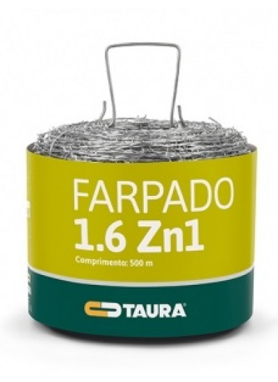 Arame Farpado Rolo 500 metros 250 kgf - Taura