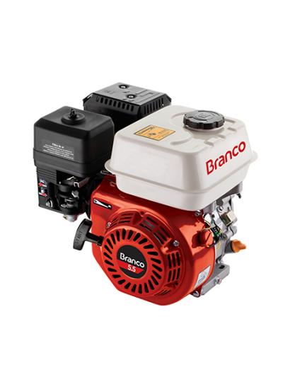 Motor a Gasolina 4 tempos 5.5 HP (Com alerta de óleo) Partida Manual B4T 5.5 - Branco
