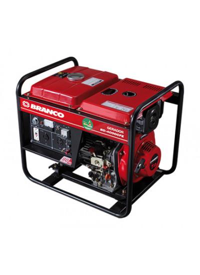 Gerador de Energia a Diesel Mono 3,3 KVA 110/220v Partida Manual BD-4000 - Branco