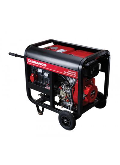 Gerador de Energia a Diesel Tri 4,5 KVA 220v Partida Elétrica - BD-6500 CF3E - Branco