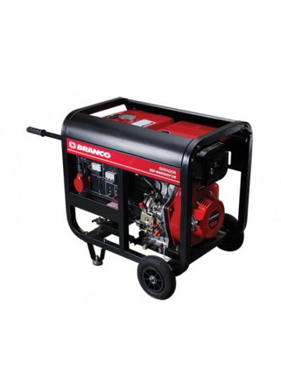 Gerador de Energia a Diesel Mono 5,5 KVA 110/220v Partida Elétrica BD-6500 - Branco