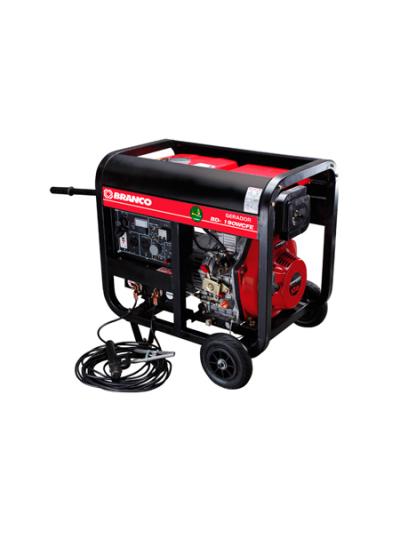 Gerador de Energia a Diesel Mono 2 KVA 110/220v Partida Elétrica - BD-W190 E - Branco