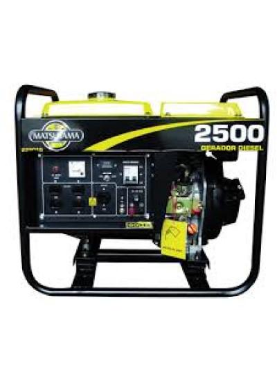 Gerador de Energia a Diesel Mono 2,2 KVA 110/220v Partida Manual - Matsuyama