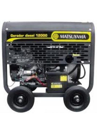 Gerador de Energia a Diesel Mono 11 KVA 110/220v Partida Elétrica -  Matsuyama