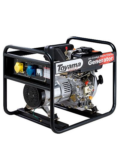 Gerador de Energia a Diesel Mono 3,8 KVA 110/220v Partida Manual - TDG4000BB - Toyama