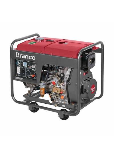 Gerador de Energia a Diesel Mono 6,5 KVA 110/220v Partida Elétrica BD-8000 - Branco
