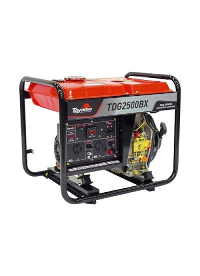 Gerador de Energia a Diesel Mono 2,2 KVA 115/230v Partida Manual - TDG2500BX - Toyama