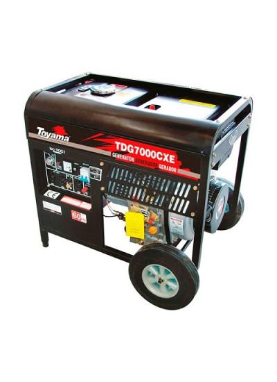 Gerador de Energia a Diesel Mono 6,0 KVA 110/220v Partida Elétrica - TDG7000CXE - Toyama