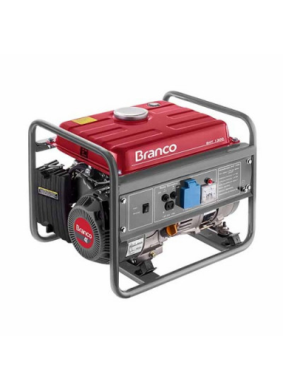 Gerador de Energia a Gasolina Mono 1,3 KVA 220v Partida Manual B4T-1300 - Branco