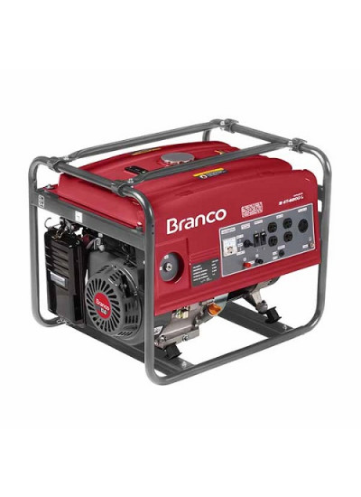 Gerador de Energia a Gasolina Mono 5 KVA 110/220v Partida Manual B4T-6500 - Branco