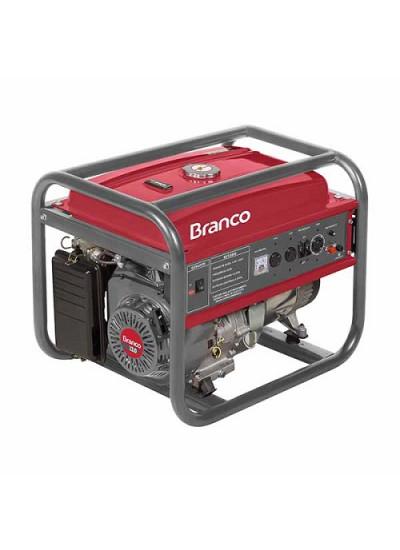 Gerador de Energia a Gasolina Mono 6 Kva 110/220v Partida Manual - B4T-8000 - Branco
