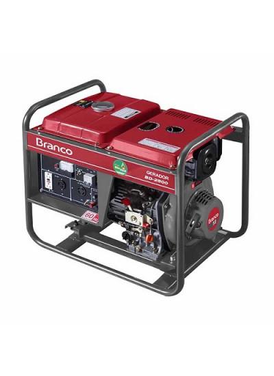Gerador de Energia a Diesel Mono 2,2 KVA 110/220v Partida Elétrica BD-2500 E - Branco
