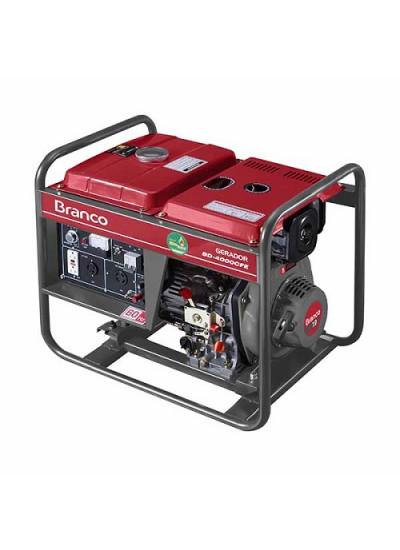 Gerador de Energia a Diesel Mono 3,3 KVA 110/220v Partida Elétrica BD-4000 - Branco