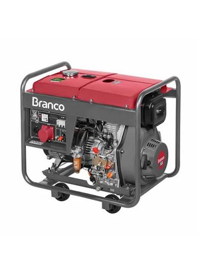 Gerador de Energia a Diesel Tri 8 KVA 220v Partida Elétrica BD-8000 E3 - Branco