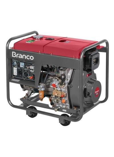 Gerador de Energia a Diesel Mono 6,5 KVA 110/220 Partida Elétrica - BD8000EF - Branco