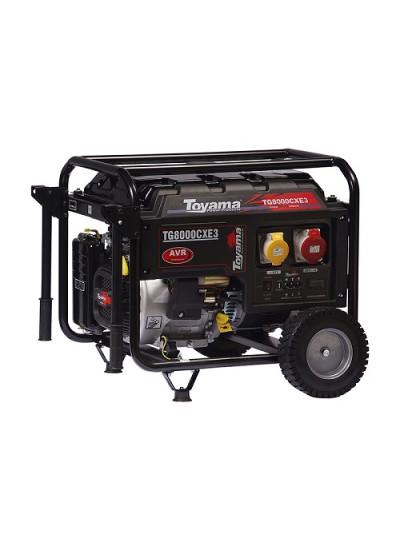 Gerador de Energia a Gasolina Mono 7,0 KVA 110/220v Partida Elétrica - TG8000CXE - Toyama