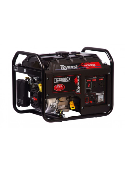 Gerador de Energia a Gasolina Mono 3,5 KVA 110/220v Partida Manual - TG3800CX - Toyama