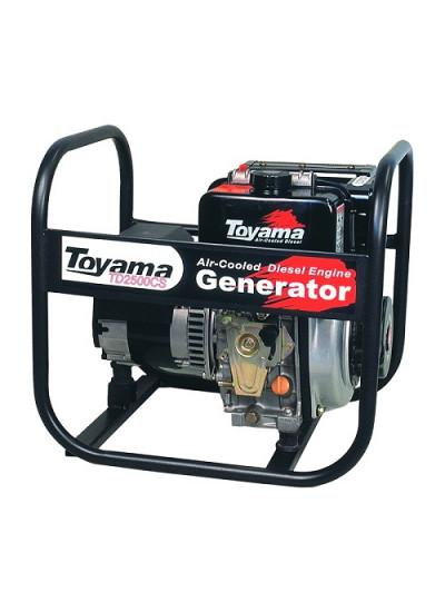 Gerador de Energia a Diesel Mono 2,2 KVA 110/220v Partida Manual - TDG2500BB - Toyama