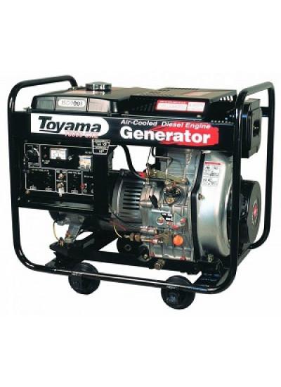 Gerador de Energia a Diesel Mono 5,5 KVA 110/220v Partida Elétrica - TDG6000CXE - Toyama