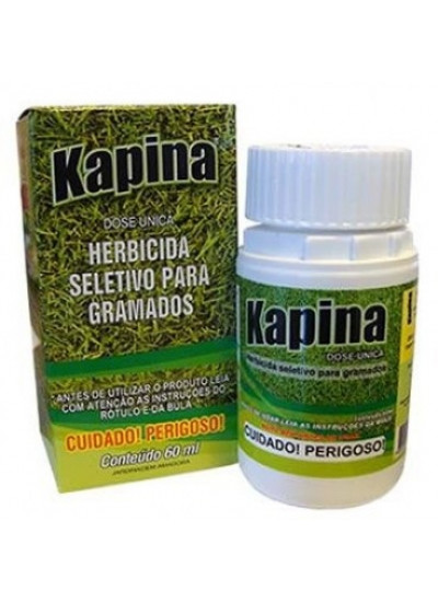 Herbicida Kapina Tradicional - SELETIVO para GRAMAS DIVERSAS - 60 ml