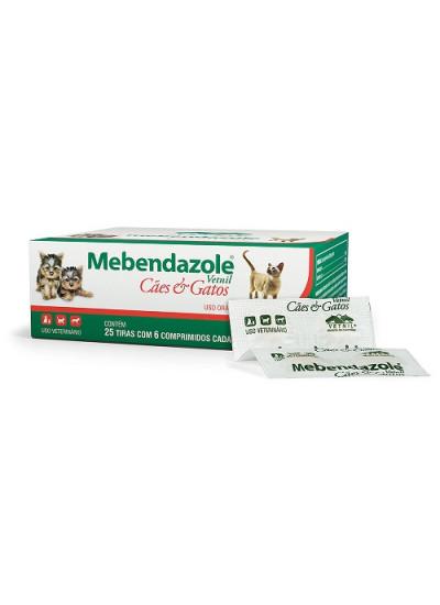 Vermifugo Mebendazole - 06 comprimidos - Vetnil