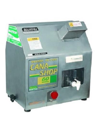 """Moenda de cana """"CANA SHOP 60"""" - 3 rolos e eixos de ferro 220 V - Maqtron"""