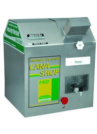 "Moenda de cana ""CANA SHOP 140"", motor 1,0 CV 110V 3 rolos eixos de inox - Maqtron"
