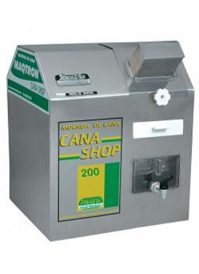 "Moenda de cana ""CANA SHOP 200"", motor 2,0 CV 220V 3 rolos eixos de inox - Maqtron"