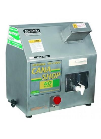 "Moenda de cana ""CANA SHOP 60"", motor 1/2 CV 110V 3 rolos e eixo de inox - Maqtron"