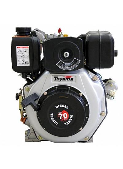 Motor a Diesel 4 Tempos, Partida Elétrica  - 7 Hp - TD70FE - Toyama