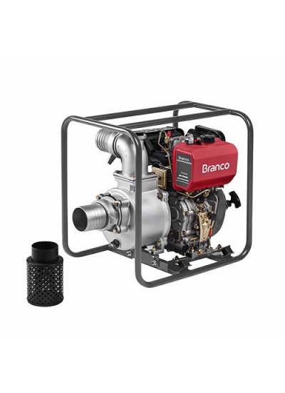 """Motobomba a Diesel Autoescorvante Partida Elétrica 4"""" x 4"""" - BD 700 CFE - Branco"""