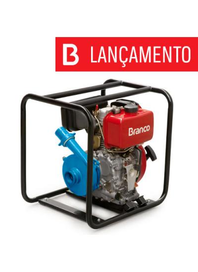 "Motobomba a Diesel Centrífuga Partida Manual 2 1/2"" x 2"" - BD 716 - Branco"