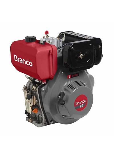 Motor a Diesel 7.0 HP Partida Manual BD 7.0 - Branco