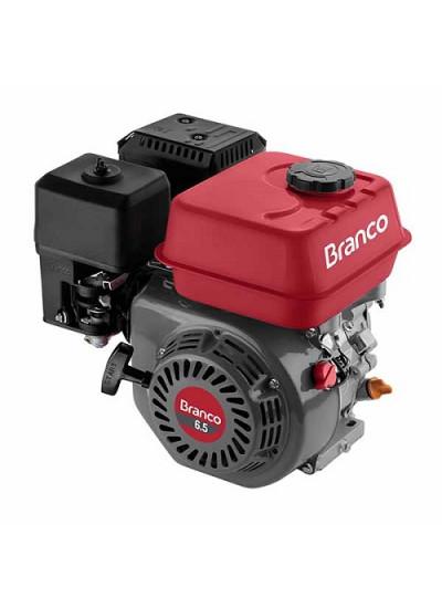 Motor a Gasolina 4 Tempos 6.5 HP (Com alerta de óleo) Partida Manual B4T 6.5 - Branco