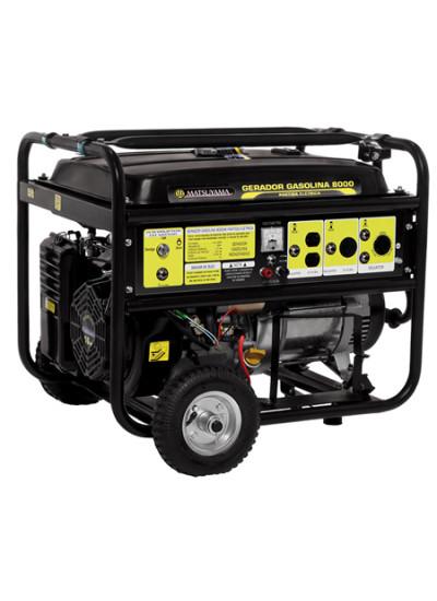 Gerador de Energia a Gasolina Tri 8 KVA 380v Partida Elétrica - Matsuyama
