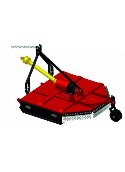 Roçadeira Hidráulica para trator RT 1600 com cardan, roda guia e regulagem de altura - Maqtron