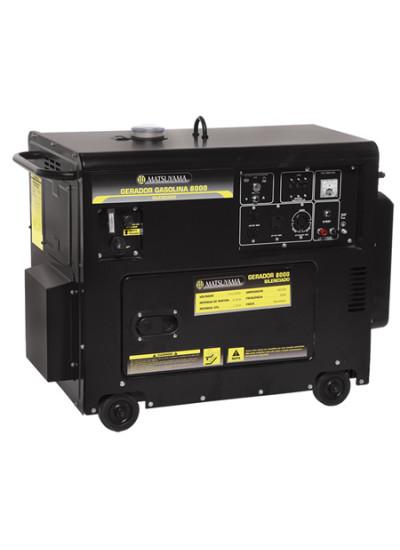 Gerador de Energia a Gasolina Tri 8 KVA 220v Partida Elétrica - Matsuyama