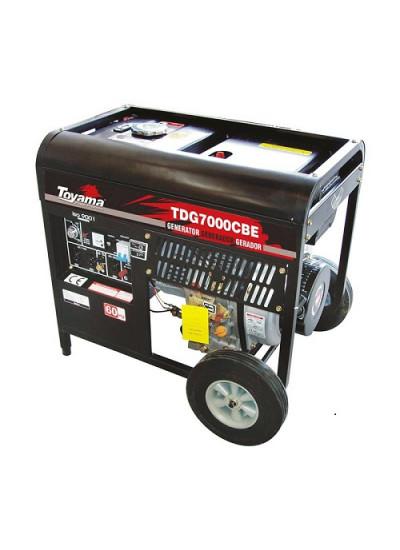 Gerador de Energia a Diesel Mono 6 KVA 110/220v Partida Manual/Elétrica - TDG7000CXEB - Toyama