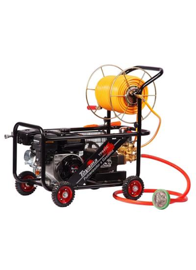 Pulverizador Estacionário à Gasolina - 30-45 l/min - 50m de mangueira e carro de transporte - TPS45C- Toyama